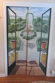 painted closet door ideas. Hand Painted Trompe L\u0027oeil Doors Add Visual Interest To My Home Closet Door Ideas L