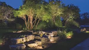 Landscape Lighting Moonlight Effect Outdoor Landscape Lighting Hardscape Path Lighting Deck
