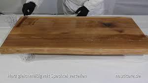 Gießharz Holz Tisch Eingießen Youtube