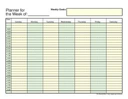 Free Weekly Schedule Template Excel 28 Unique Weekly Schedule Planner Template