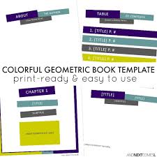 book publishing templates colorful geometric square book template and next comes l