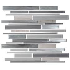 glass stone blend strip mosaic tile 8mm thickness ad806121