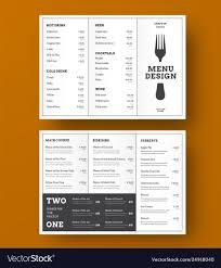 Design Trifold Menu For A Cafe Or