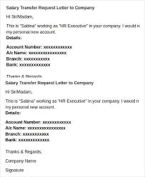 Salary Transfer Letter Template 5 Free Word Pdf Format