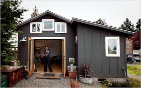 tiny house with garage. Michelle De La Vega, A Visual And Performance Artist, Turned Her Garage Into 250-square-foot House For $32,000. Tiny With T