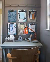 home office organization use decorative paper or wallpaper scraps to brighten up plain clipboards bulletin board ideas office