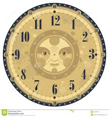 Vintage Clock Face Stock Vector. Illustration Of Background - 25576108
