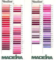 Madeira Embroidery Thread Colour Chart Thread Colour Charts Madeira Mouline Stranded Cotton Thread