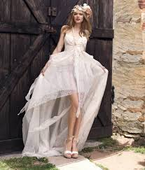 hippie wedding dresses in casual is a lace dress with neckline v