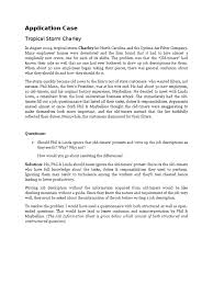case study on job analysis