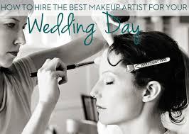 hire a wedding makeup artist