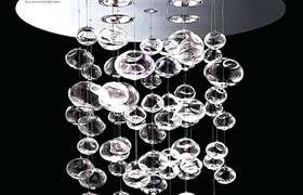 gl ball chandelier modern heads flower clear blown ball chandelier stacked light ball