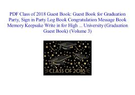 Class Of 2018 Guest Book Guest Book For Graduation Party Sign In Pa