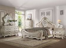 Old world furniture design Dining Old World Design Antique White Bedroom Furniture Piece Set W Queen Bed Iaa0 Old World Furniture Ebay