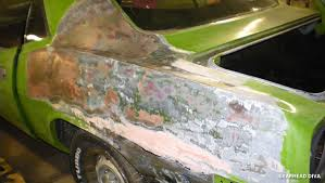 how to strip paint from a car