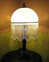 frosted glass lamp unique frosted glass lamp with beaded fringe vintage bohemian boudoir style frosted glass frosted glass