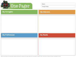 One Pager Template Im Determined