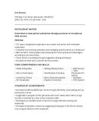 Banquet Server Resume Examples Extraordinary Waiter Resume Sample Banquet Server Resume Examples Banquet Waiter
