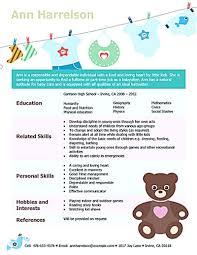 Babysitter Resume Sample Template Babysitter Resume Sample Babysitter Resume Template Babysitter 16