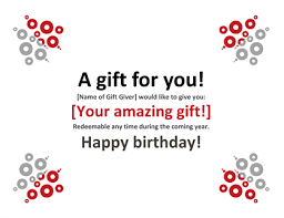 microsoft word birthday coupon template gift certificate office templates