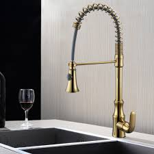 Pull Down Spring Faucet Kitchen Single Handle High Arc Kitchen Bar