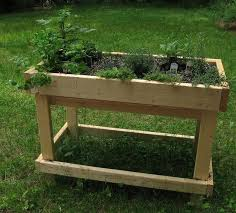 information for raised garden bed tables