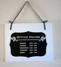 store or office hours business hanging wood sign 11x9 decoration 1 sided sign via business office decorating ideas 1 small business