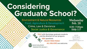 Considering Grad School Considering Graduate School Sociology Workshop College Of