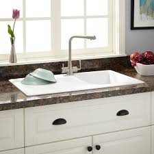 White Granite Kitchen Sink 34 Owensboro Drop In Granite Composite Sink With Drain Board