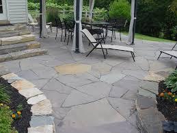 flagstone patio design