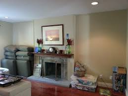 before clearlake fireplace wall