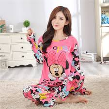 Женский Пижамный костюм Disney <b>Mickey mouse</b>, весенне ...
