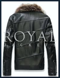 leather and fur jacket royal leather faux fur leather jacket for men leather jacket fur collar