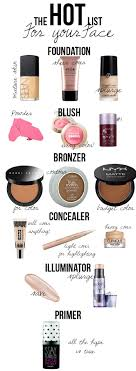 makeup s name list mugeek vidalondon the hot list for your face with splurge and budget