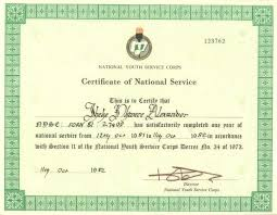 What Is Nysc Certificate Number Onlinenigeria Com