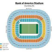 Carolina Panthers Seating Chart With Rows Unexpected Panther Stadium Seat View Bank Of America Stadium