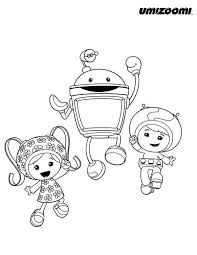 Small Picture Geo and Milli Hug Bot in Team Umizoomi Coloring Page Color Luna