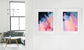 shannon o neill contemporary australian artist modern abstract painting a3 framed art print on pastel wall art adelaide with abstract a3 art print shannononeill