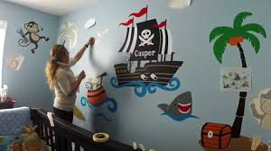 fascinating custom nursery wall decor monkey pirates at sea baby room ideas image for popular and