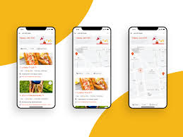 Mobile List View Design Food Truck Finding App List View To Map View By Mandy Ding