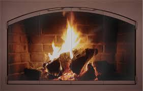 Amazoncom Pleasant Hearth EA5011 Easton Fireplace Glass Door Black Fireplace Doors