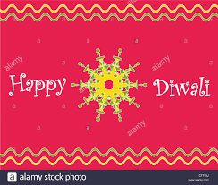 Indian Festival Decoration Colorful Indian Festival Diwali Greetings With Decorative Design