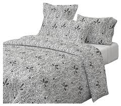black and white batik white indian cotton duvet cover traditional duvet covers and duvet sets by roostery