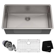 kraus stainless steel sinks. Simple Kraus Kraus KHU10032 32 Inch Undermount Single Bowl 16 Gauge Stainless Steel  Kitchen Sink With Sinks Amazonca