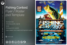 Competition Flyer Template Fishing Contest Flyer Template on Behance 1