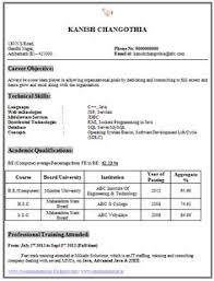 Objective In Resume For Software Engineer Fresher Resume Template of a Computer Science Engineer Fresher with Great 77