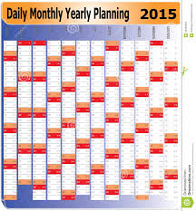 Daily Planners 2015 2020 Daily Monthly Yearly 2015 Calendar Planning Chart Stock