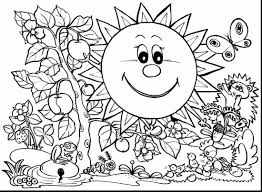 Printable Coloring Pages Spring Page Collection Of Springtime Colo