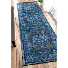 blue runner rug traditional vintage inspired fancy blue runner rug cobalt blue runner rug