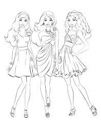 Elegant Barbie Coloring Pages Free Large Images Barbie Fashion